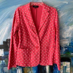 Talbots Pink Polka Dot Jersey Blazer Sz MP